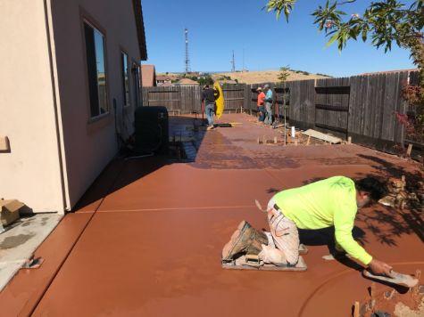 this image shows colored concrete in cerritos ca