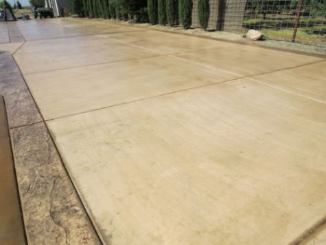 this picture shows concrete driveway cerritos california