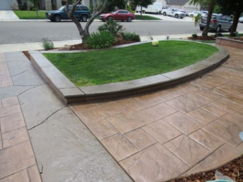 this image shows concrete driveway cerritos