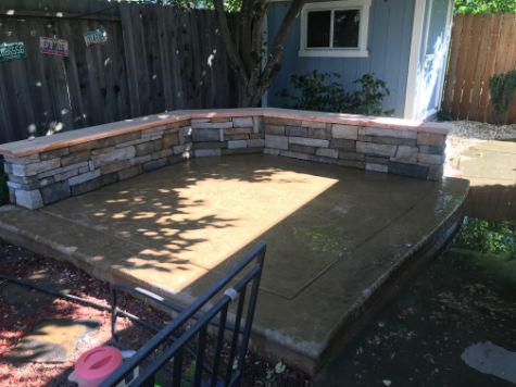 this picture shows concrete patio cerritos