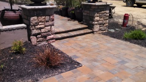 this image shows stone masonry contractor in cerritos