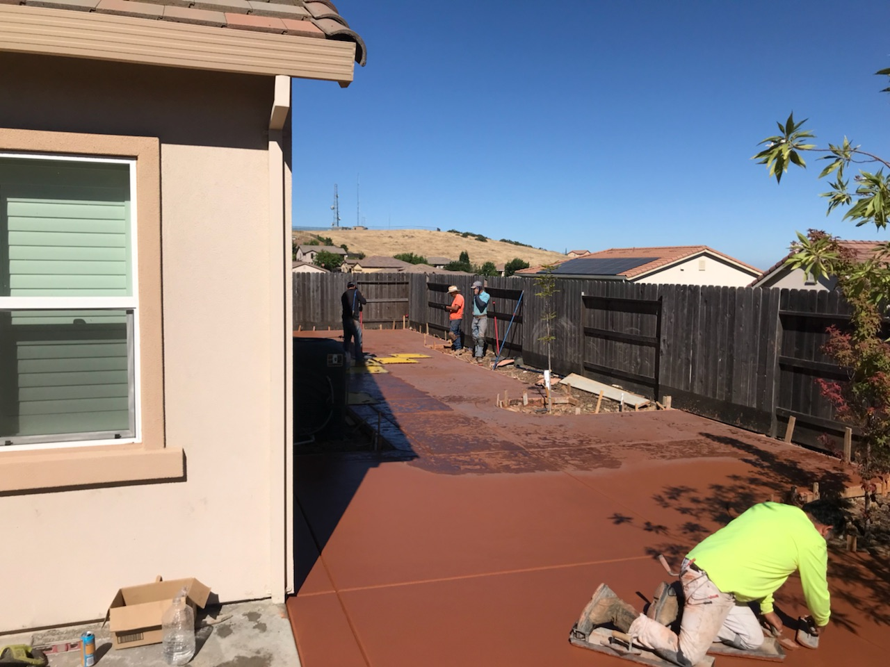 An image of colored concrete contractor in Cerritos.
