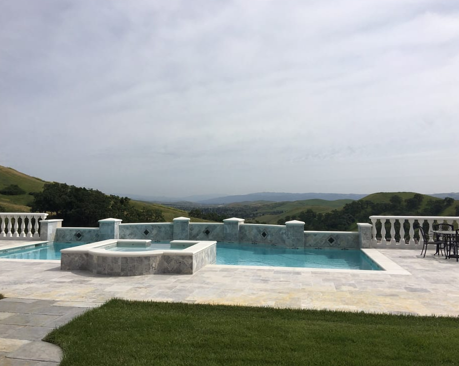 this image shows pool deck in cerritos california