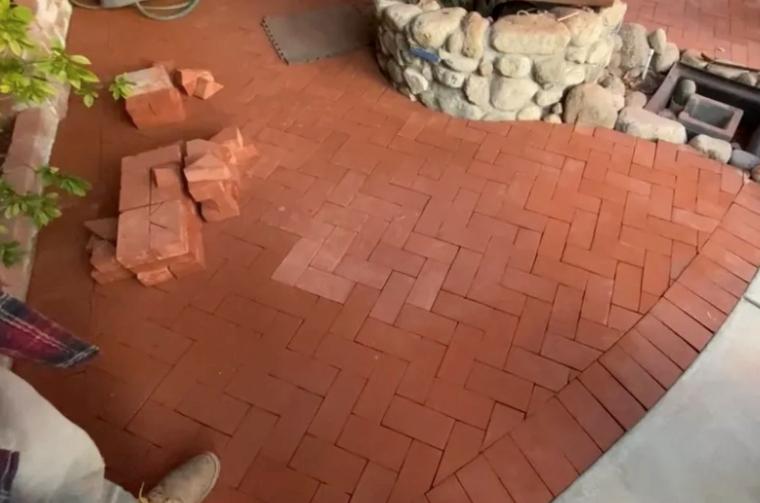 this image shows brick masonry in Cerritos, California