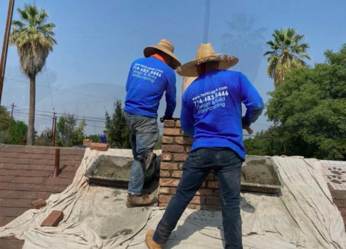 this image shows bricklayer in Cerritos, California
