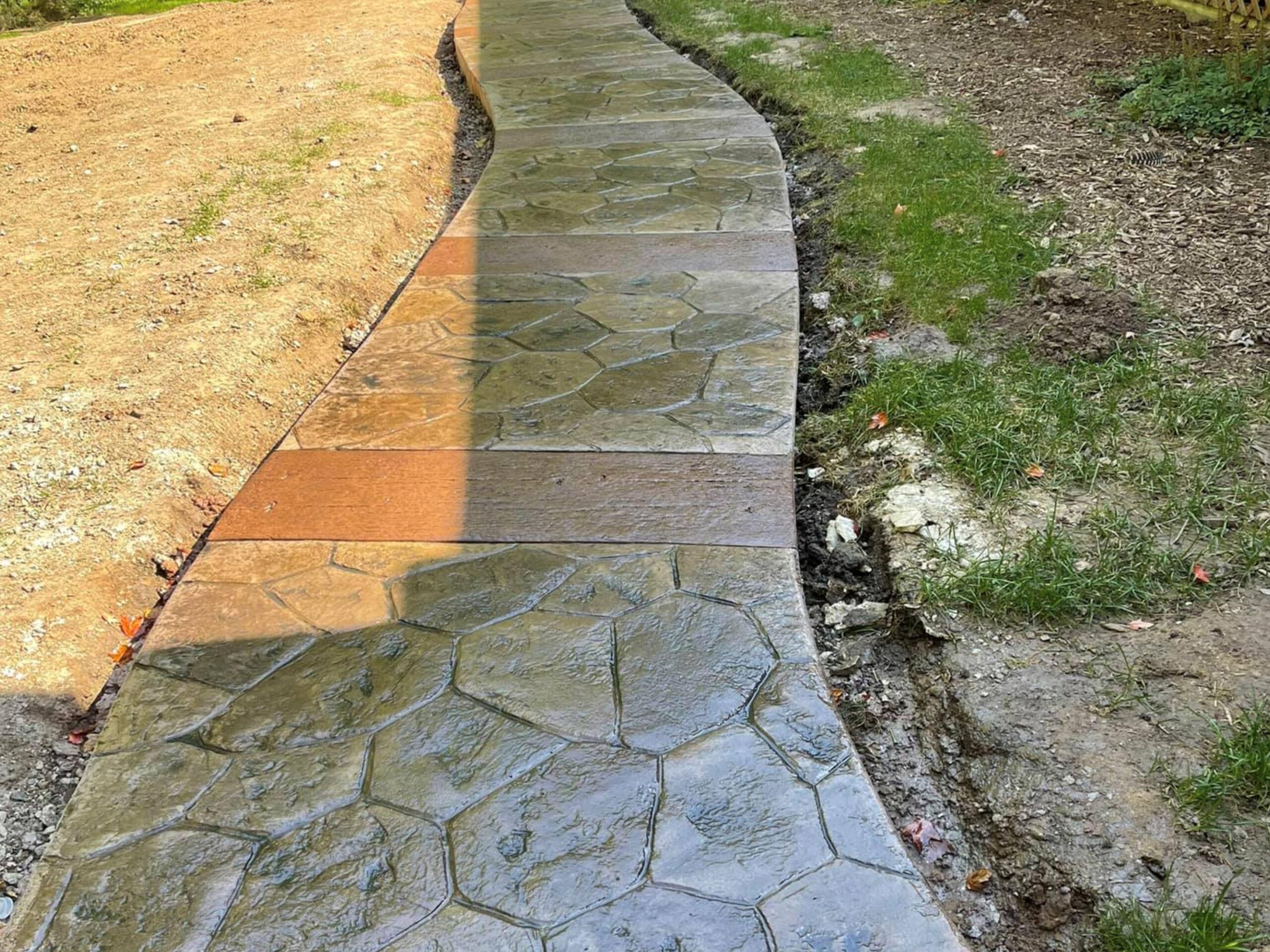this image shows decorative concrete in Cerritos, California