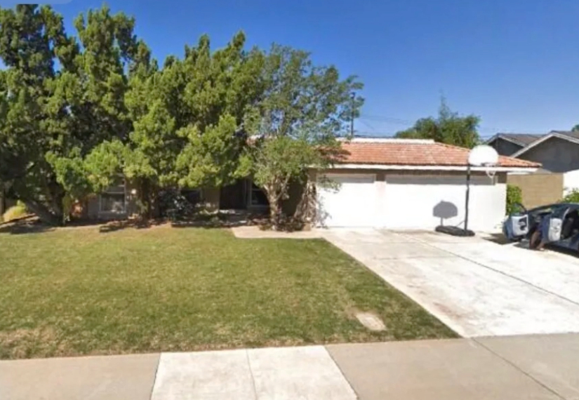 this image shows driveway construction in Cerritos, California