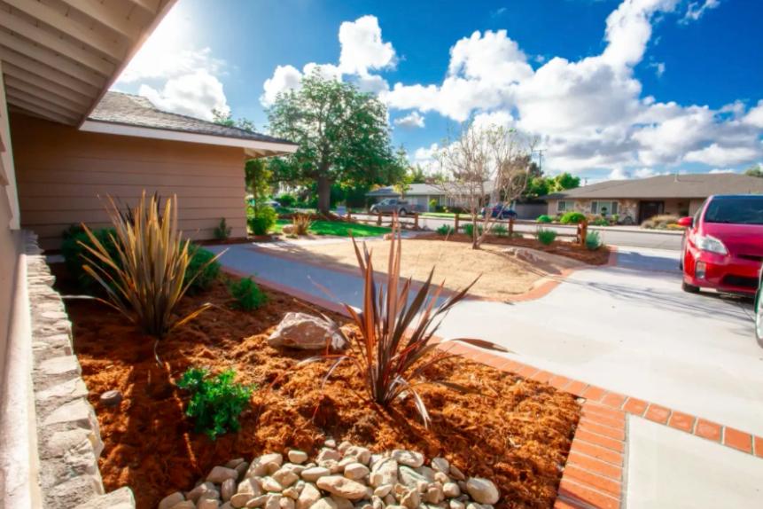 this image shows driveway in Cerritos, California