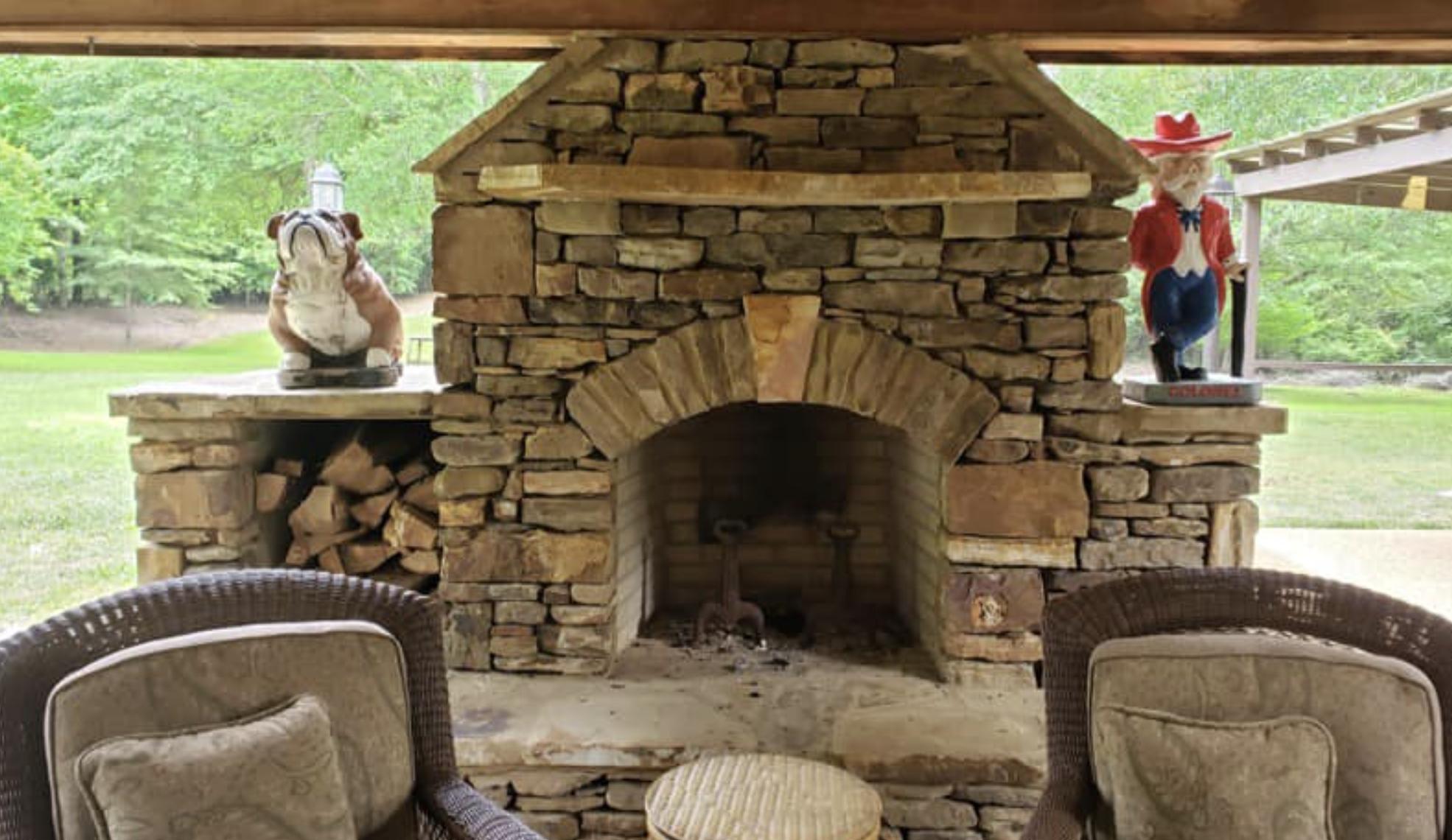 this image shows fireplace in Cerritos, California
