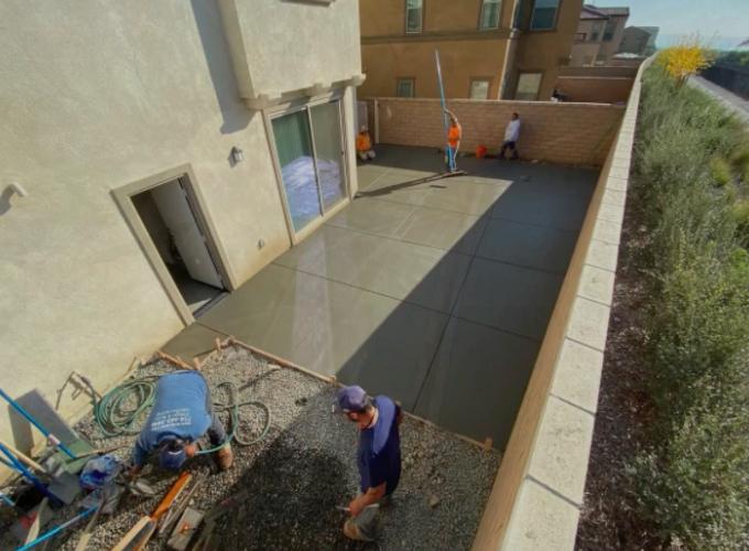this image shows patios in Cerritos, California