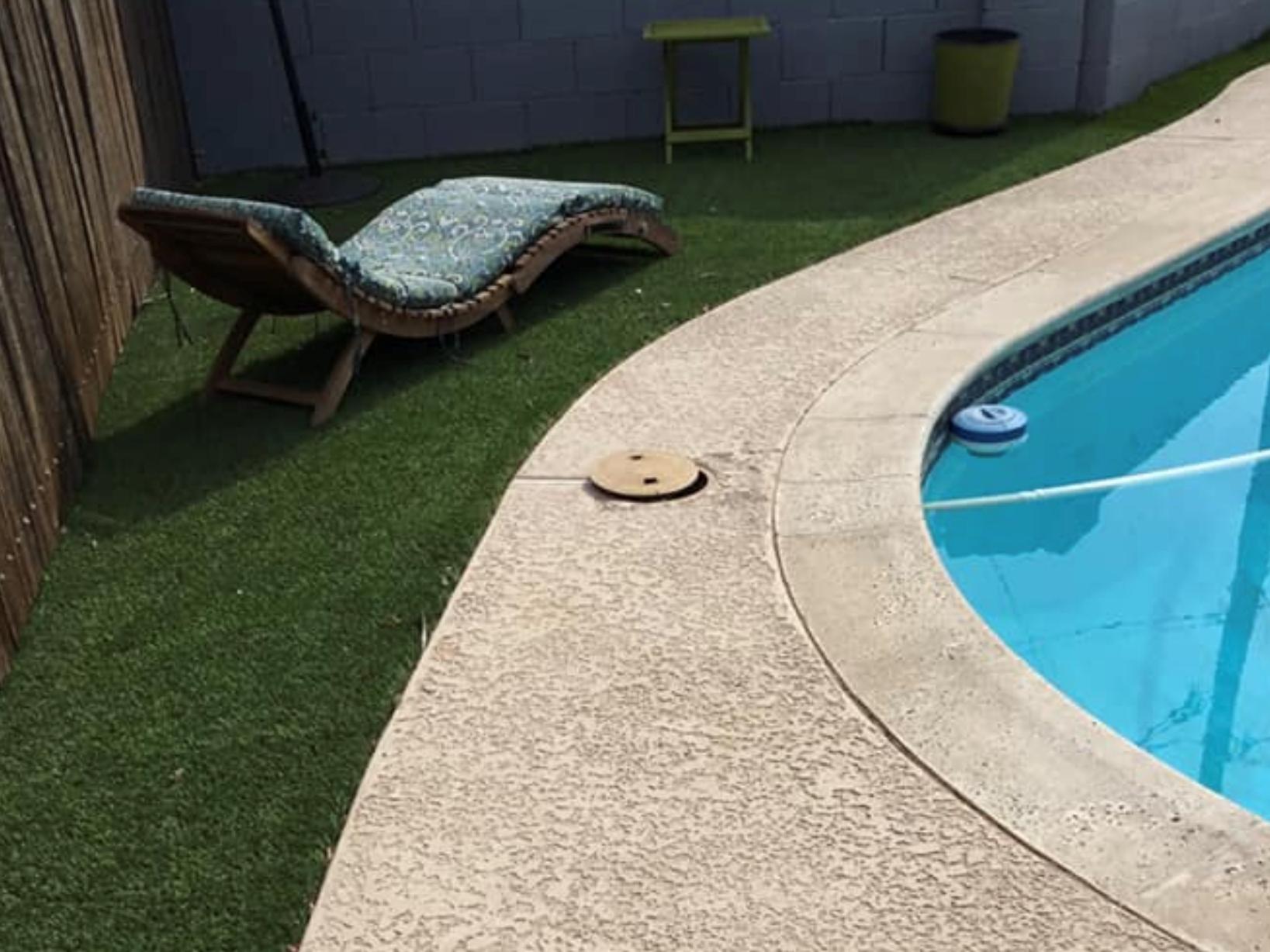 this image shows pool deck installation in Cerritos, California