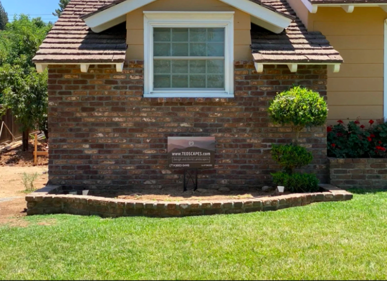 this image shows stone masonry in Cerritos, California