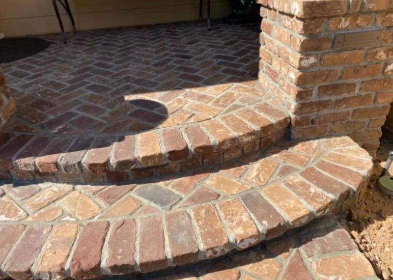 this image shows stone pavers in Cerritos, California